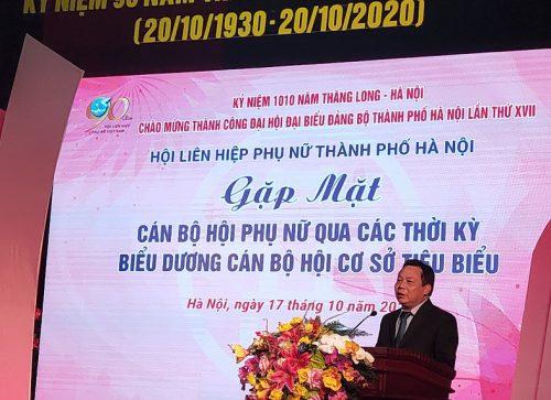 Đồng chí Nguyễn Văn Phong, Phó Bí thư Thành ủy, Trưởng ban Tuyên giáo Thành ủy Hà Nội phát biểu tại chương trình