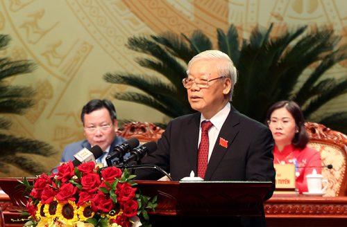 Đồng chí Tổng Bí thư, Chủ tịch nước Nguyễn Phú Trọng phát biểu chỉ đạo Đại hội