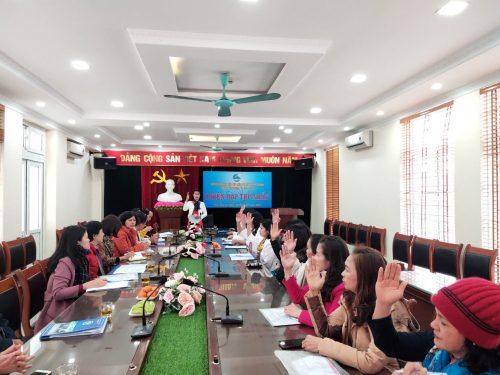 Ban Chấp hành Hội LHPN xã khóa XXIX đã họp phiên đầu tiên bầu ban Thường vụ