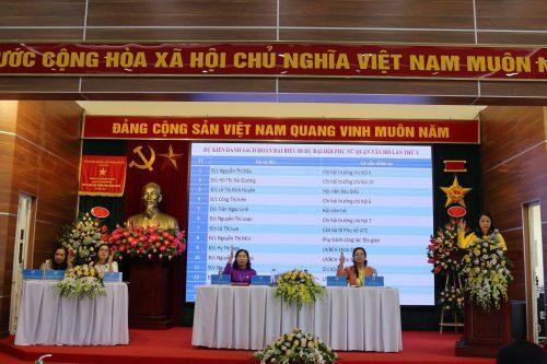 Các đại biểu dự đại hội bầu đoàn đại biểu dự Đại hội Đại biểu Phụ nữ Tây Hồ lần thứ VI nhiệm kỳ 2021 – 2026