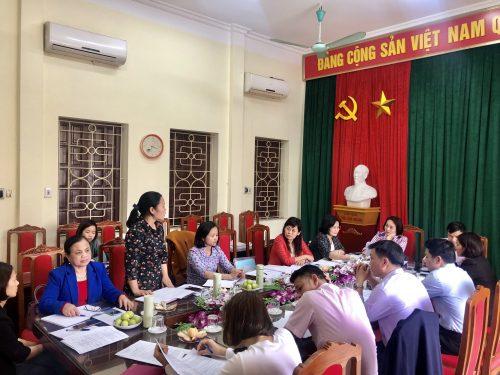 Đoàn công tác làm việc tại xã Đồng Quang, huyện Quốc Oai