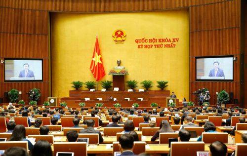 Toàn cảnh phiên khai mạc kỳ họp thứ nhất, Quốc hội khóa XV.