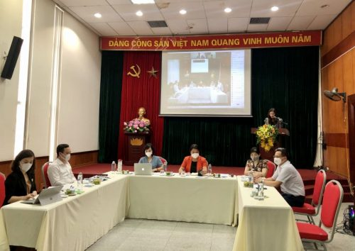 Toàn cảnh buổi tọa đàm tại điểm cầu Hội LHPN Hà Nội