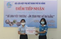 Hội LHPN thành phố Đà Nẵng tiếp nhận 100 triệu đồng ủng hộ từ Hội LHPN Hà Nội
