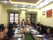 Đoàn công tác của Hội LHPN Hà Nội làm việc  tại phường Trần Phú, quận Hoàng Mai