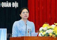 Bà Hà Thị Nga, Chủ tịch Hội Liên hiệp Phụ nữ Việt Nam. (Ảnh: Phương Hoa/TTXVN)