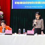 Đại diện Hội LHPN Việt Nam và lãnh đạo Hội LHPN TP Hà Nội chủ trì buổi tuyên truyền